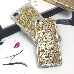 Accessories - iPhone Gold Glitter Flakes Case